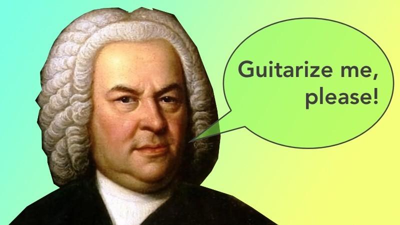 Johann Sebastian Bach Gitarre